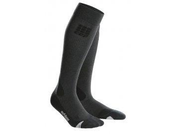 CEP pánské outdoorové podkolenky MERINO - šedá / černá (Velikost V (45-50 cm obvod lýtka))