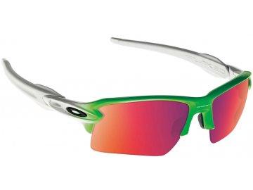 Běžecké sluneční brýle OAKLEY Flak 2.0 XL Green Fade w/ PRIZM Field