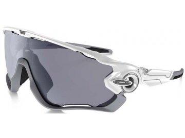 Běžecké sluneční brýle OAKLEY JAWBREAKER Polished white/grey pol