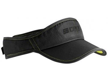CEP brand collection run visor black limegreen uni WZ17U40