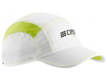 CEP brand collection run cap white limegreen uni WZ16T4