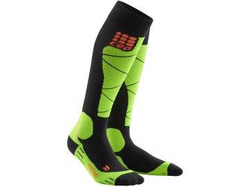 CEP ski merino socks blacklime WP50UB m WP40UB w pair