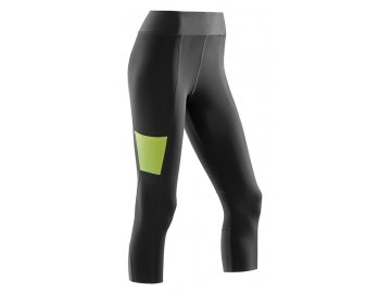 CEP Performance 3 4 Tights black lime W7H8UC w front