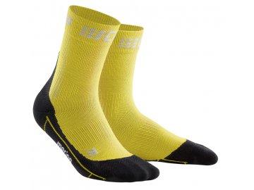 Winter Run Mid Cut Socks yellow black WP5CGU m WP4CGU w pair
