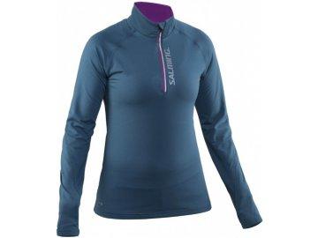 Běžecké tričko SALMING Run Halfzip LS Women