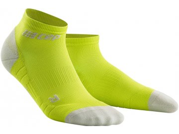 Compression Low Cut Socks 3.0 lime light grey WP5AEX m WP4AEX w pair front