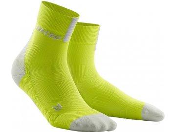 Compression Short Socks 3.0 lime light grey WP5BEX m WP4BEX w pair front