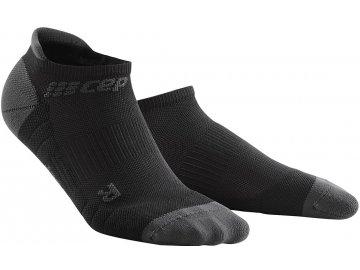 CEP dámske nízke běžecké kompresní ponožky 3.0 - černá / tmavě šedá