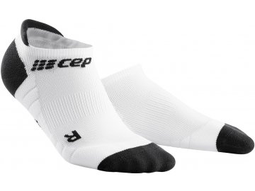 Compression No Show Socks 3.0 white dark grey WP568X m WP468X w pair front