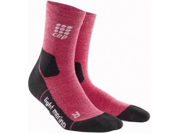 CEP Outdoor Light Merino Mid Cut Socks wild berry WP4CGF w pair