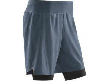 Run 2in1 Shorts grey black W9112K m front