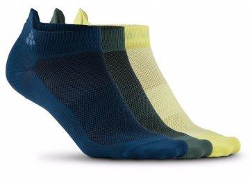 ponozky craft shaftless 3 pack tmave modra