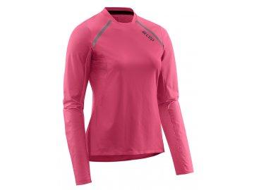 Run Shirt Long Sleeve rose W9A346 w front