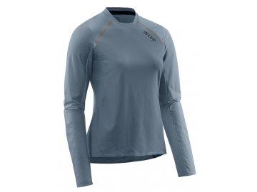 Run Shirt Long Sleeve grey W9A326 w front