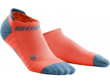 Compression No Show Socks 3 0 coral grey WP46BX WP56BX front 2