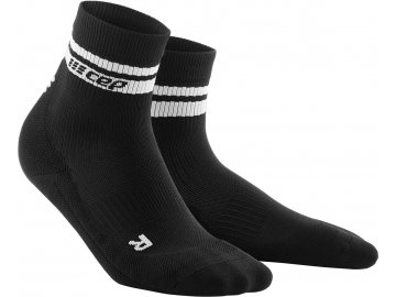 80s Compression Mid Cut Socks black white WP5CBV WP4CBV front 2