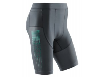 Run Compression Shorts 3 0 grey mint W011CC m front