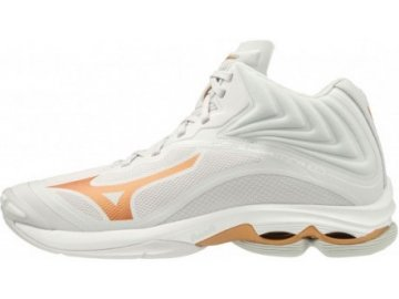 mizuno wave lightning z6 mid white v1gc200552