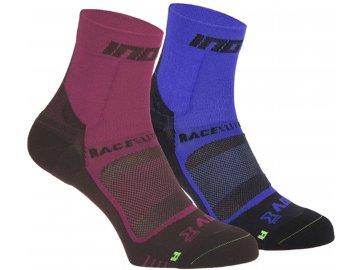 race elite pro twin pack of running socks pink black blue black p5898 23197 zoom