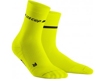 Neon Mid Cut Socks neon yellow WP2CAG WP3CAG front 2