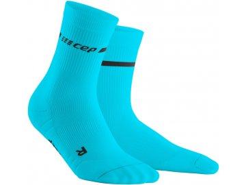 Neon Mid Cut Socks neon blue WP2CBG WP2CBG front 2