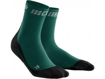 Winter Run Mid Cut Socks green black WP4BMU WP5BMU front 2