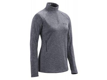 Winter Run Shirt LS black melange W0A369 w front