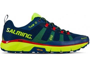 salming trail 5 shoe men poseidon blue safety yellow 13 uk