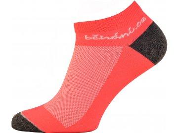 Běžecké ponožky s logem běhání.cz - oranžové (Velikost textilu 43-45)