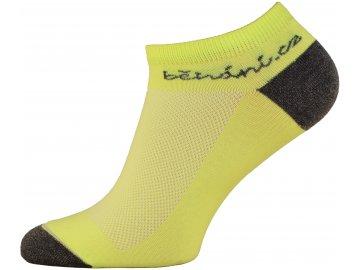 Běžecké ponožky s logem běhání.cz - žluté (Velikost textilu 43-45)