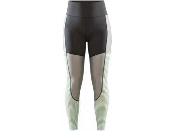 w kalhoty craft adv charge shiny tmave seda se svetle zelenou 4