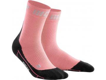 Winter Run Mid Cut Socks rose black WP4B1U w front 2