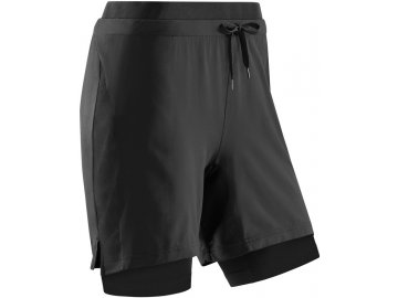 Training 2in1 Shorts black W0H15B w front
