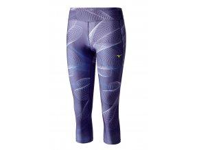 3/4 běžecké kalhoty Mizuno Lotus Tights J2GB621267 (Velikost textilu S)