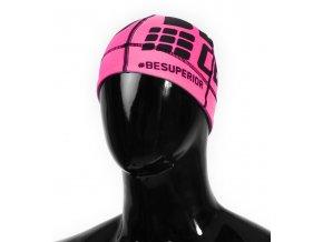 Běžecká čepice CEP růžová fluo