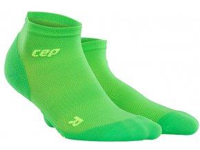 CEP pánské kotníkové běžecké kompresní ponožky ULTRALIGHT - viper / zelená