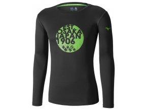 Běžecké tričko Mizuno Core Graphic LS Tee J2GA652209 (Velikost textilu XXL)