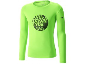 Běžecké tričko Mizuno Core Graphic LS Tee J2GA652235 (Velikost textilu XXL)