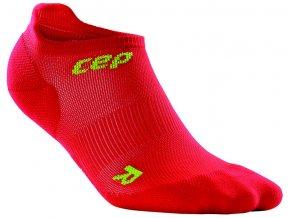 CEP pánské nízké běžecké kompresní ponožky ULTRALIGHT - červená / zelená
