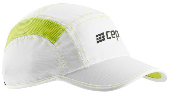 CEP kšiltovka - bílá / limetková L/XL