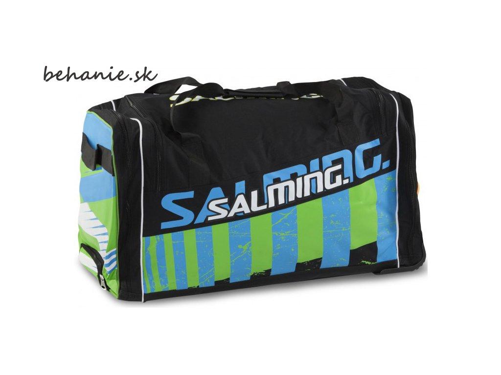 Sportovní taška SALMING Wheelbag INK, 170L-34, SR, Black/Lime