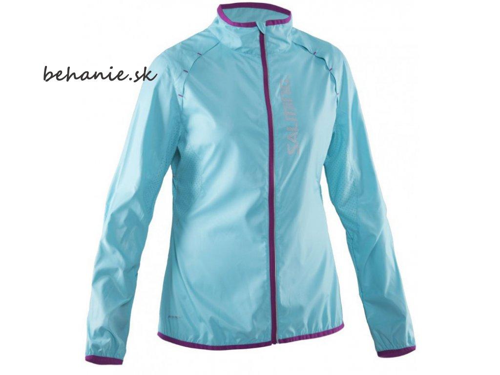 Bežecká bunda Salming Running Ultralite Jacket Women Turquoise