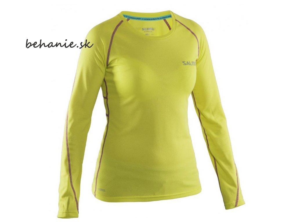 Bežecké tričko SALMING Run LS Tee Wmn Strong Lime