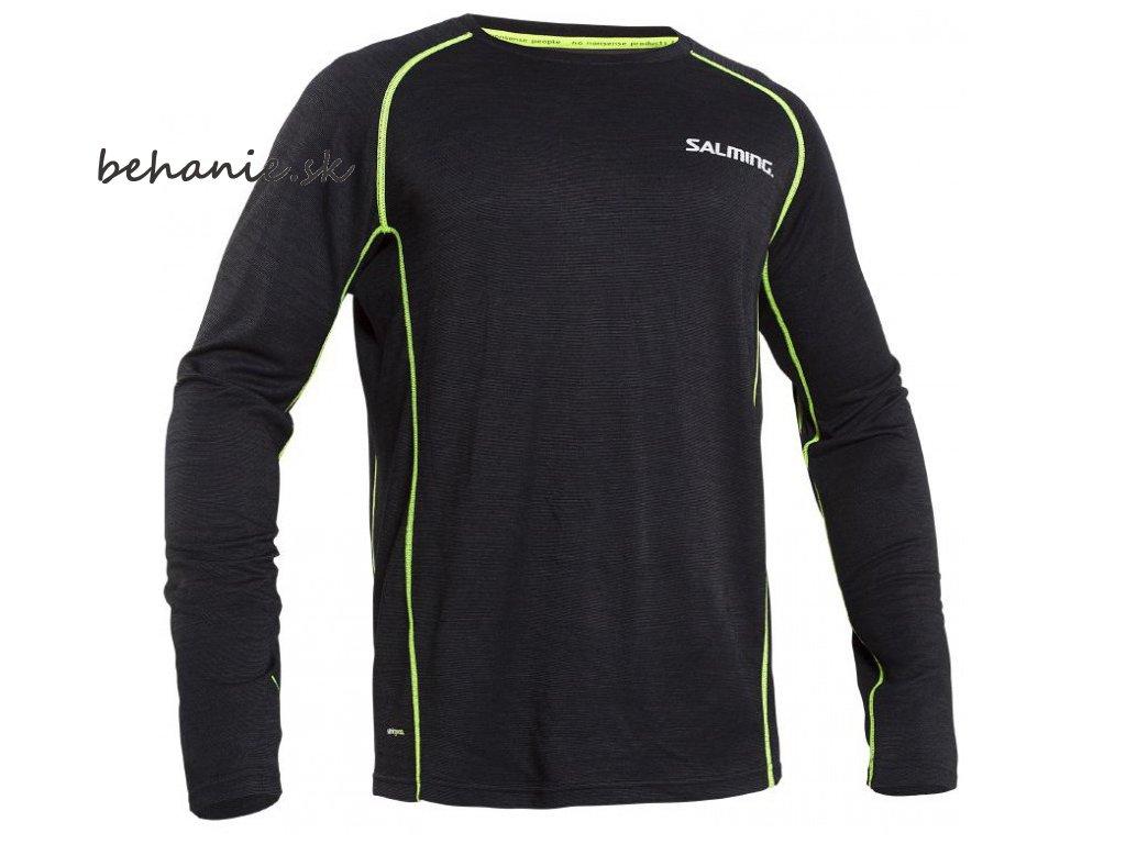 Bežecké tričko SALMING Running LS Wool Men Grey