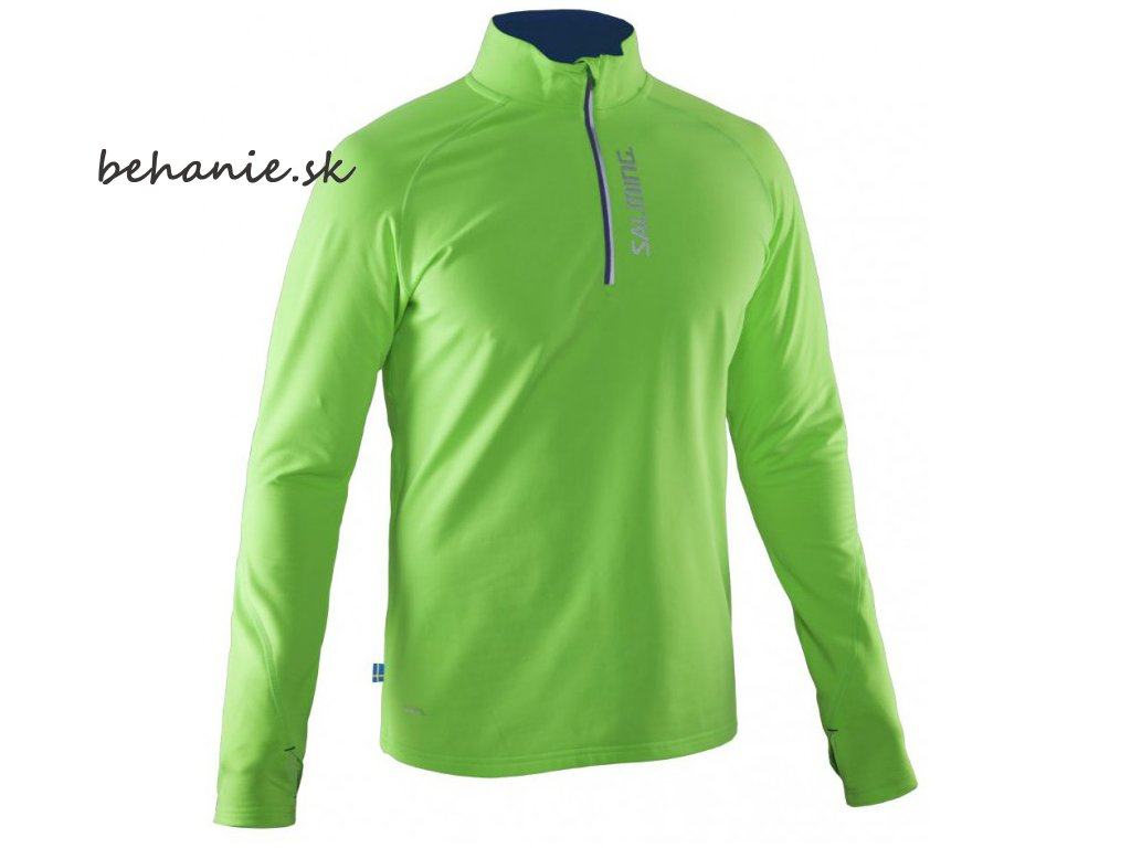 Bežecká bunda SALMING Run Halfzip LS Tee Men Gecko Green