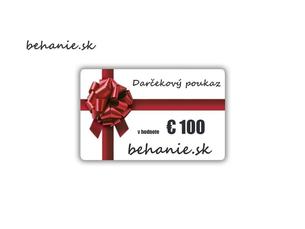 Darčekový poukaz v hodnotě €100