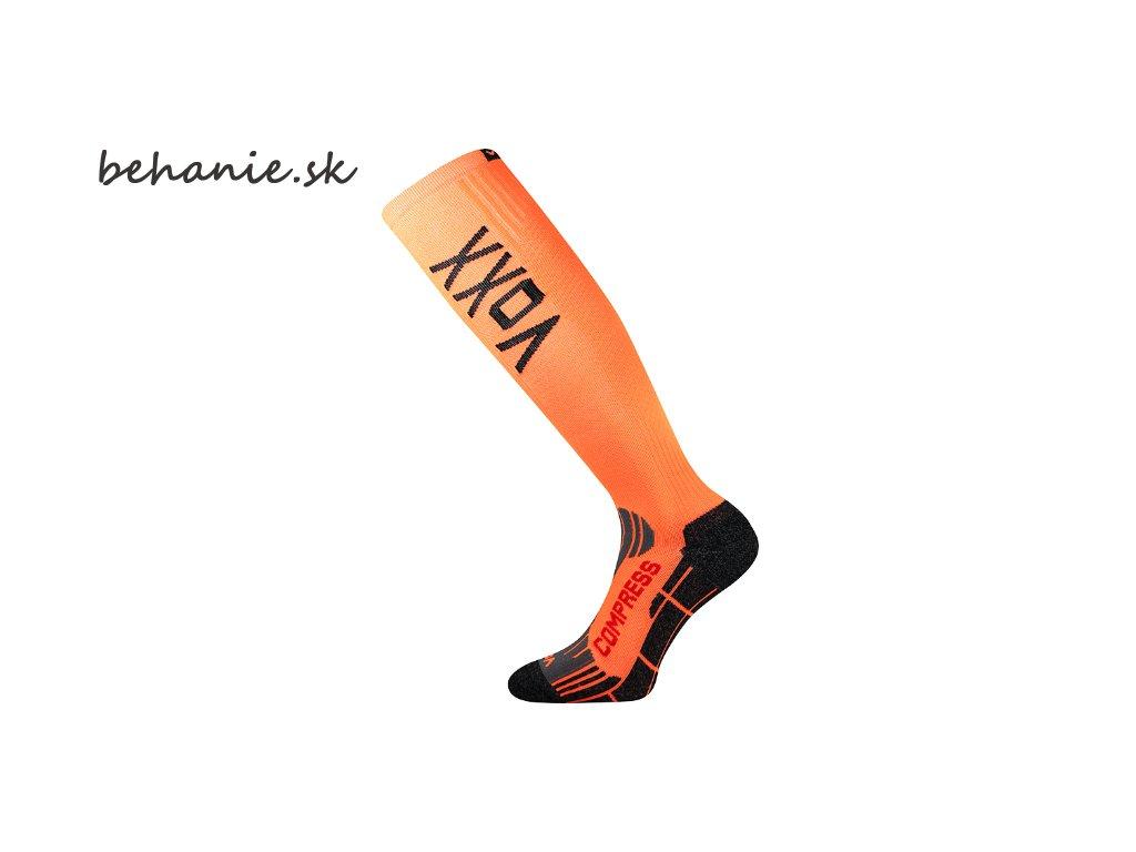 Bežecké kompresné podkolienky Boma FLEX - oranžové