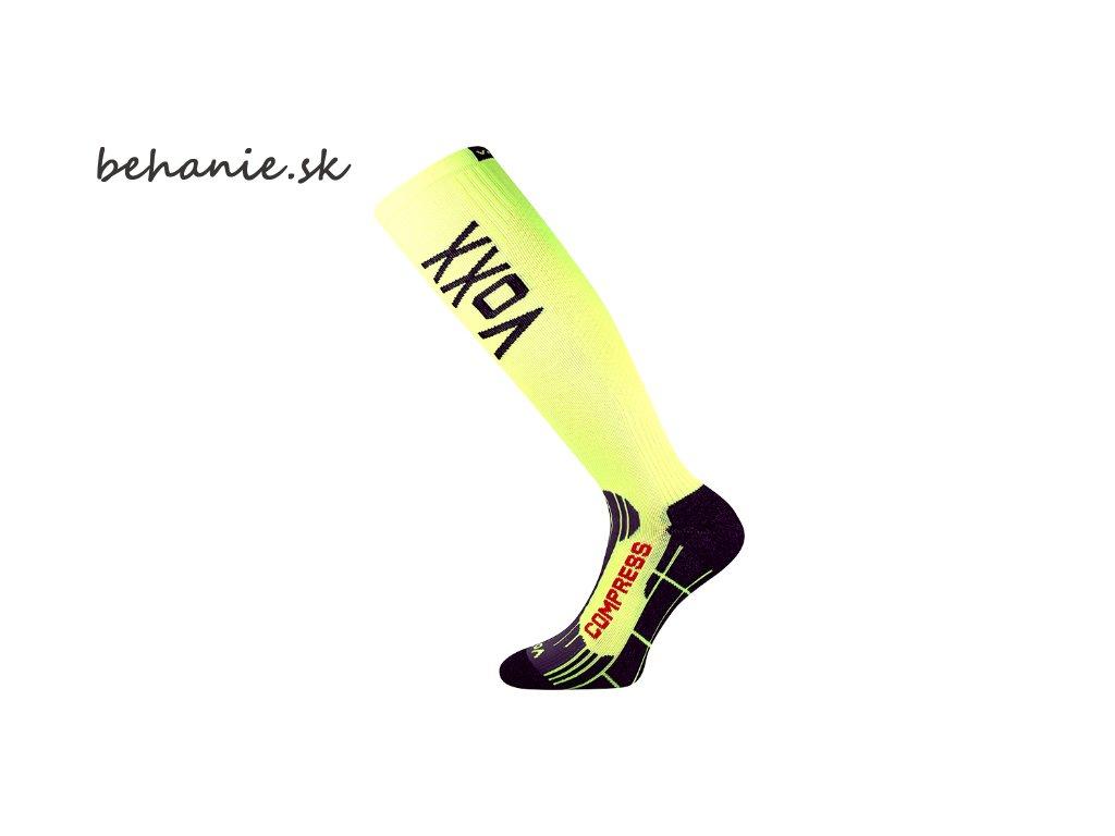 Bežecké kompresné podkolienky Boma FLEX - žlté