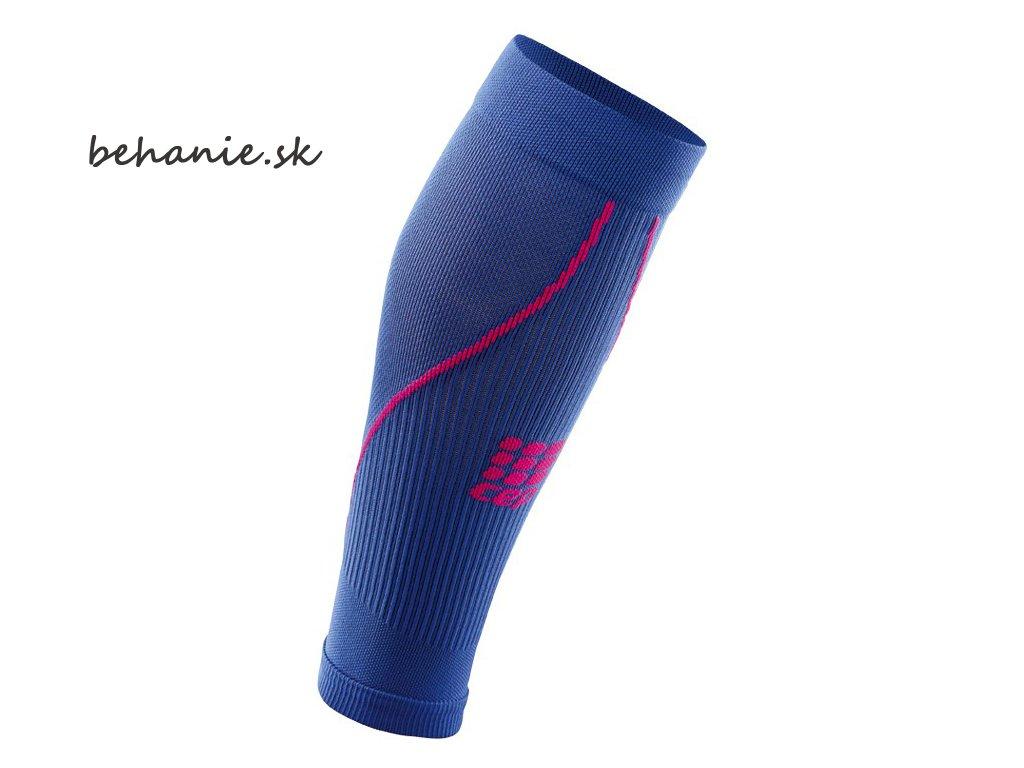 CEP dámské běžecké kompresní lýtkové návleky 2.0 - purpurově modrá / růžové (Velikost IV (39-44 cm obvod lýtka))