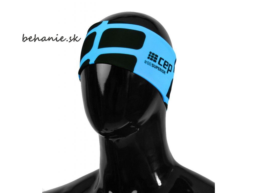 CEP běžecká čelenka - modrá (Velikost S/M(51-56cm))